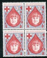 SLOVAKIA 1993 Red Cross Block Of 4 MNH / **.  Michel 182 - Nuevos