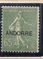XP5014 - ANDORRA 1931,  Unificato N. 16  *  Linguella (2380A) . - Andorre Français