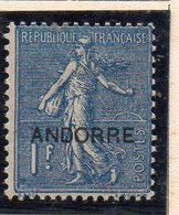 XP5015 - ANDORRA 1931,  Unificato N. 18  *  Linguella (2380A) . - Andorre Français