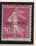 XP5016 - ANDORRA 1931,  Unificato N. 8  Usato (2380A) . SOPRASTAMPA SMOSSA ! - Andorre Français