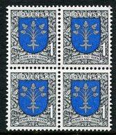 SLOVAKIA 1993 Definitive: Arms 1 SK Block Of 4 MNH / **.  Michel 177 - Nuevos