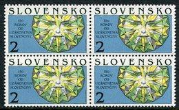 SLOVAKIA 1993 Slovak Orthography Block Of 4 MNH / **.  Michel 176 - Nuevos