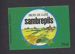 Etiquette De Bière De Luxe  -  Sambrepils   -   Brasserie  De Solesmes à  Denain   (59) - Beer