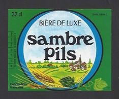 Etiquette De Bière De Luxe  -  Sambre Pils   -   Brasserie  De Solesmes à  Denain   (59) - Beer