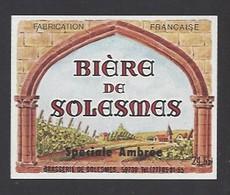 Etiquette De Bière Spéciale Ambrée   -   Brasserie  De Solesmes à  Denain   (59) - Beer