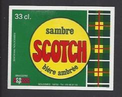 Etiquette De Bière  Ambrée   -   Scotch  -   Brasserie  De Solesmes à  Denain   (59) - Beer