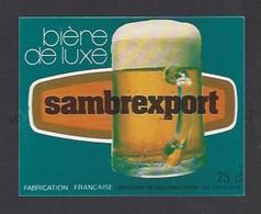 Etiquette De Bière  De Luxe   -   Sambrexport  -   Brasserie  De Solesmes à  Denain   (59) - Beer
