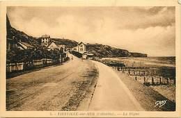 - Calvados -ref-G205- Vierville Sur Mer - La Digue - Edit. Gaby - N° 5 - Carte Bon Etat - - Francia