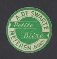 Etiquette De Petite Bière  -  A De Swarte  à  Méteren   (59) - Beer