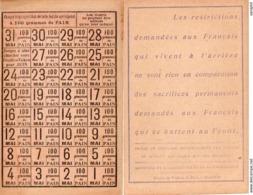 FEUILLE DE TICKETS DE PAIN - MAI 1918 - 1914-18