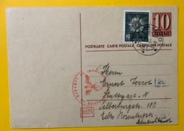 9630 -  Entier Postal  No 156 Y  Longeur Titre 76 Mm Muralto 1.12.1943 Pour L'Allemagne Censures - Interi Postali