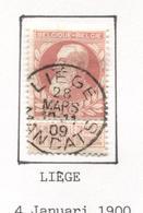 REF87/ TP 74 C.Liège Mandats 28 MARS 10-11 09 (1909) - 1905 Grosse Barbe