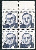 SLOVAKIA 1993 Definitive: President 2 Kc Block Of 4 MNH / **.  Michel 166 - Neufs