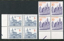 SLOVAKIA 1993 Definitive: Towns 5 And 10 SK Blocks Of 4 MNH / **.  Michel 164-65 - Nuevos
