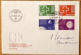 Schweiz Suisse 1964: EXPOSITION NATIONALE Zu 402-405 Mi 782-785 Yv 717-720 O LAUSANNE 30.IV.64 ENTRÉE BOURGET - Universal Expositions