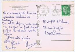 FINISTERE - Flamme Illustrée à Droite PLOUDALMEZEAU - 16 - 8  1973 - Marcophilie (Lettres)