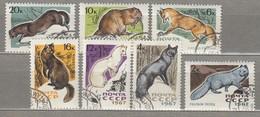 RUSSIA USSR 1967 Fauna Mammals Mi 3386-3392 Used (o) #24736 - Used Stamps