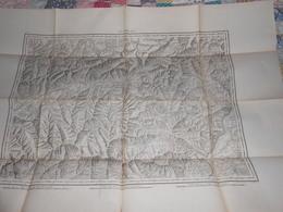Carte Topographique LE SIMPLON De Raymond 1860 - Cachet 43ème Régiment Artillerie Vincennes - Militaria - Mapas Topográficas