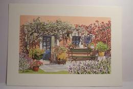 ART & NATURE  - PROVENCE  - Aquarelle  Christophe  Botton -  N°14 - Glycine Et Rosier Grimpant  -  ( Chats ) - Illustratoren & Fotografen