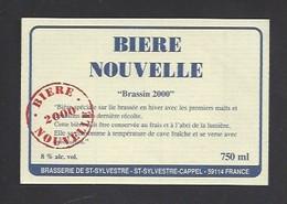 Etiquette De Bière Nouvelle 2000  -  Brassin 2000   -  Brasserie De Saint Sylvestre  à Saint Sylvestre Cappel   (59) - Beer