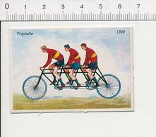 Triplette De 1898 / Vélo Bicyclette Ancienne Cycliste Cyclisme Cycle Vélocipède Genre Tandem  IM51P4-1 - Sin Clasificación