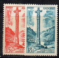 XP4479 - ANDORRA FRANCESE 1955,  Unificato N. 146+147  -***  MNH (2380A) . - Neufs