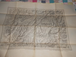 Carte Topographique CHAMBERI ( Chambéry ) De Raymond 1860 - Cachet 43ème Régiment Artillerie Vincennes - Militaria - Cartes Topographiques