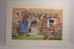 ART & NATURE  - PROVENCE  - Aquarelle  Christophe  Botton -  N°17 - Le Coin Du Jardinier   -  ( Chats ) - Illustratoren & Fotografen