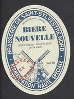 Etiquette De Bière Nouvelle    -  Brasserie De Saint Sylvestre  à Saint Sylvestre Cappel   (59) - Thème Moulin à Vent - Beer