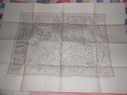 Carte Topographique TURIN Italie De Raymond 1860 - Cachet 43ème Régiment Artillerie Vincennes - Militaria - Mapas Topográficas