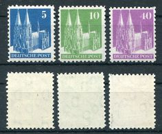 Alliierte Besetzung Michel-Nr. 75, 80 Und 90 Type I Postfrisch - Gemeinschaftsausgaben