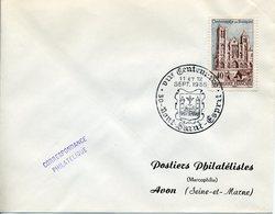 PONT SAINT ESPRIT 1965 7e CENTENAIRE Blason Pont Tour Saint Esprit - Marcophilie (Lettres)