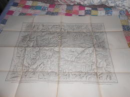 Carte Topographique BRIANCON De Raymond 1860 - Cachet 43ème Régiment Artillerie Vincennes - Militaria - Mapas Topográficas
