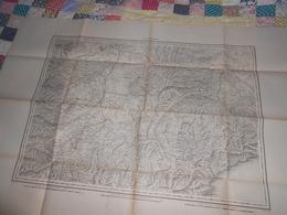 Carte Topographique ALEXANDRIE Italie De Raymond 1860 - Cachet 43ème Régiment Artillerie Vincennes - Militaria - Carte Topografiche