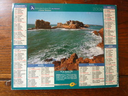 Calendrier, Almanach Du Facteur - La Poste - 2008 - Île De Bréhat - Cap Nègre, Cavalière - Autres