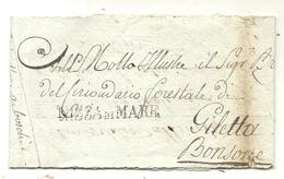 CONTE DE NICE . NIZZA DI MARE . 1924 .SUR BANDE EN FRANCHISE POUR GILETTA - Postmark Collection (Covers)