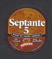 Etiquette De Bière Ambrée -  Septante 5 -  Brasserie Terken  à  Roubaix  (59) - Beer