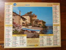 Calendrier, Almanach Du Facteur - La Poste - 2008 - Plage Du Touquet - Yvoire - Autres