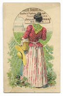 CALENDRIER 1900 (7,5x12)... Bouillie Bordelaise Céleste...procédé B. Pons... JULLIAN Frères Béziers... - Kalenders
