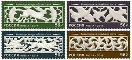RUSSIA 2019 #2579-2582 Decorative-applied Art Of Russia Bone-carving 4 Stamps MNH - Ongebruikt