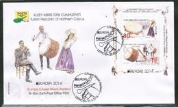 CEPT 2014 CY TR MI BL 31 CYPRUS TURKEY FDC - 2014