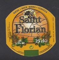 Etiquette De Bière Ambrée -  Saint Florian -  Brasserie Terken  à  Roubaix  (59) - Beer