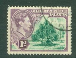 Gilbert & Ellice Islands: 1939/55   KGVI    SG44   1d      Used - Gilbert & Ellice Islands (...-1979)