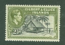 Gilbert & Ellice Islands: 1939/55   KGVI    SG47    2½d  Brownish-black & Deep Olive     MH - Gilbert & Ellice Islands (...-1979)
