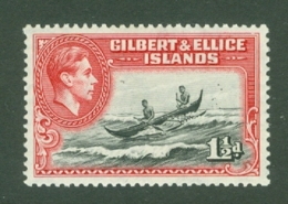 Gilbert & Ellice Islands: 1939/55   KGVI    SG45   1½d      MH - Gilbert & Ellice Islands (...-1979)