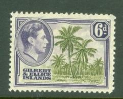 Gilbert & Ellice Islands: 1939/55   KGVI    SG50   6d      MH - Gilbert & Ellice Islands (...-1979)