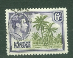 Gilbert & Ellice Islands: 1939/55   KGVI    SG50   6d      Used - Gilbert & Ellice Islands (...-1979)