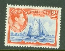 Gilbert & Ellice Islands: 1939/55   KGVI    SG52   2/-     MH - Gilbert & Ellice Islands (...-1979)