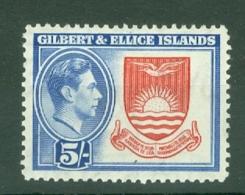 Gilbert & Ellice Islands: 1939/55   KGVI    SG54   5/-     MH - Gilbert & Ellice Islands (...-1979)