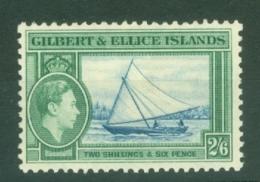 Gilbert & Ellice Islands: 1939/55   KGVI    SG53   2/6d     MH - Gilbert & Ellice Islands (...-1979)